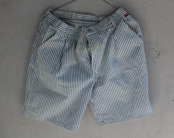 Vintage 80s 90s Wrangler Striped Denim Mom Shorts