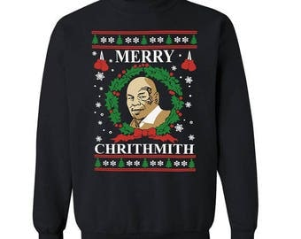 Merry Chirithmith Mike Tyson Ugly Christmas Sweater Unisex Sweatshirt
