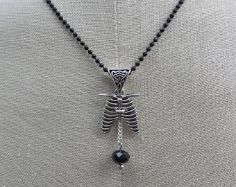 Rib Cage Pendant Necklace
