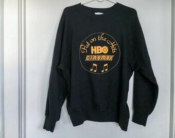"Vintage HBO / Cinemax ""Put on the Hits"" Sweatshirt - Crew Neck"