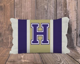 University of Washington Pillow, Personalized UW Pillow, Preppy UW Pillow, Monogrammed UW Pillow, Huskies Pillow, Huskies Dorm Decor