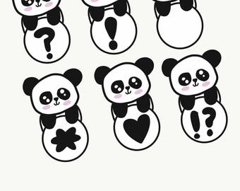 Panda Circles // Commercial Or Personal Use //