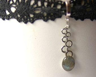Labradorite Choker, Labradorite Necklace, Labradorite Jewelry, Labradorite Gemstones, Heart Chakra, Protection Stone, Crystal