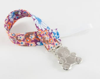 Pacifier Clip - Clustered Floral Universal Clip for Baby Pacifier/Binky/Soothie