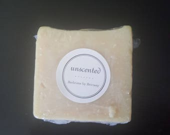 Unscented Soap for Sensitive Skin--Goat's Milk or Vegan--All Natural--Ready to Ship