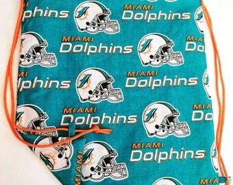 Dolphins Reversible Drawstring Bag