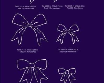 Ribbons mini pack rhinestone templates digital download, svg, eps, png, dxf