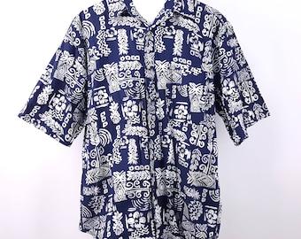 Bugle Boys Hawaiian Tropical Shirt 90s Fashion Surf Skate