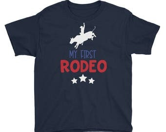 Rodeo Shirt for Kids - My First Rodeo Shirt for Boys Girls Children Youth - Texas Rodeo Shirt