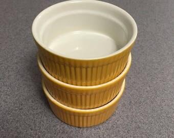 Mustard Yellow BIA Ramekins (Set of 3)