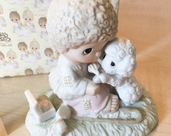 Vintage Precious Moments He Careth For You Figurine E-1377/B