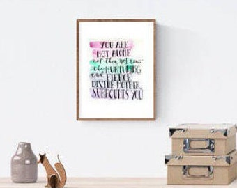 5 x 7 Inspirational watercolor print, survivor encouragement faith divine feminine spiritual support empowerment quote art | 5 x 7 in.