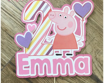 Peppa Pig Cake Topper, Centerpeice, Party Prop