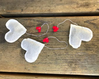 Heart Shaped Tea Bags - your own personalized tag, choose your own flavor