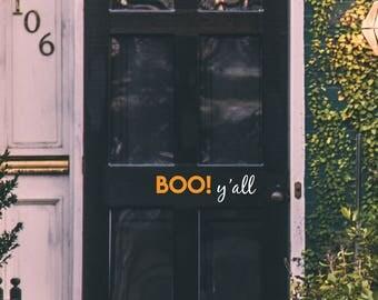 Boo! y'all Decal | Halloween Decal | Halloween Door Decal | Front Door Decal | Boo! y'all Halloween Door Decal | Wall Decal | Boo! y'all