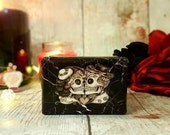 Gothic Style Wedding Ring Box - Luxury Double Ring Box - Alternative Wedding | Halloween Wedding