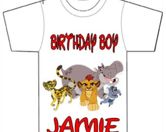 Lion guard birthday shirt,Boys Lion guard boy's birthday t-shirt,boys birthday shirt,Samba lion guard shirt,birthday boy's lion shirt.