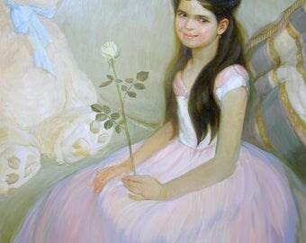 child portrait kids portrait oil portrait from photo Custom Portrait Painting Oil Painting Child Portrait Family Wedding Portrait
