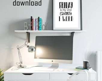 fun office wall decor photo. friday decor funny office art instant download wall digital downloads fun photo n