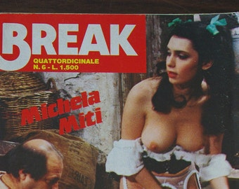Lot of 3 magazines erotic European vintage. Magazines sex 70s and 80s. Magazines for adults.