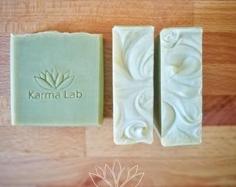 Handmade Soap Lemongrass and Rosemary, Green Clay Soap, Vegan Bar Soap, Aromatherapy Soap, Detox Handmade Soap, Spa Soap, All Natural Soap