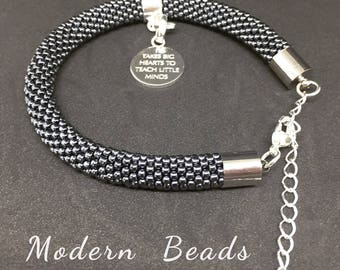 Bracelet with personalised Links of London charm
