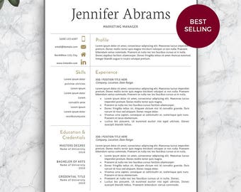 resume template professional resume template for word and pages modern resume template modern - Professional Resume Template