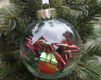 Christmas decoration, christmas baubles, glastic bauble, shatterproof baubles, clear christmas decoration, christmas tree decorations