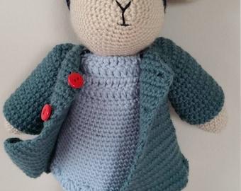 Hand Made Crochet Rabbit Toy - Emily