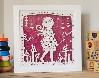 Fairy framed papercut