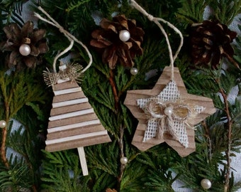 Rustic Christmas Decorations, Rustic Christmas Tree Ornaments, Christmas Decorations, Christmas Tree, Christmas Star, Farmhouse Decor