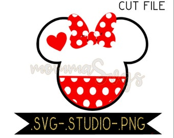 Minnie Head With Pants Svg, Studio, Png, Cut File