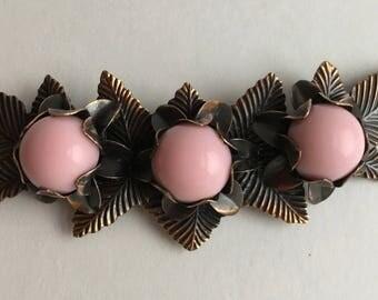Vintage copper brooch