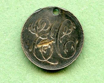 "Love Token  Canada Silver Dime  ""EC"" Unique Antique/ King George Older Monarch <>#DO-35"