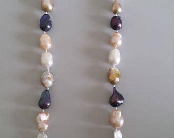 Baroque Pearl Necklace (4 Colours Combined)