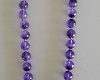 Amethyst Necklace with Baroque Pearl Feature