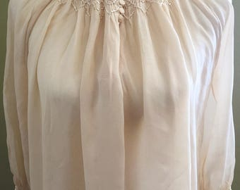 1930's Silk Crepe Nightgown
