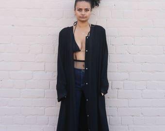 80s / 90s Black Dress Robe