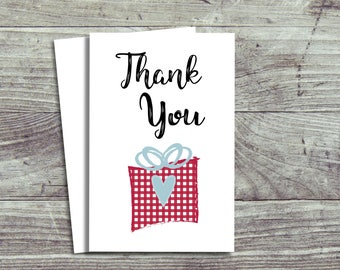 10 Christmas Thank You Cards, Pack Of 10, Thank You For My Present Cards