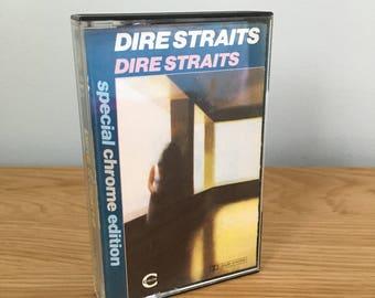 Vintage Dire Straits Self Titled Album Chrome Edition Cassette Tape