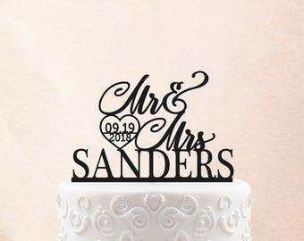 Mr and Mrs Wedding Cake Topper Customized Wedding Cake Topper Personalized Cake Topper for Wedding Custom Personalized Wedding Cake Topper 8
