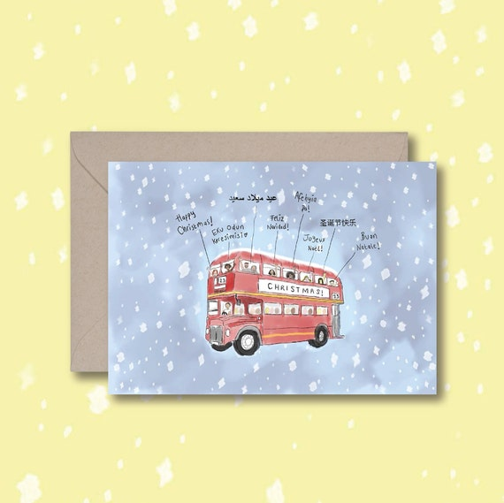 Christmas Bus - Merry Christmas - Languages