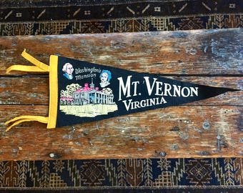 Pennant from MT. Vernon, Virginia