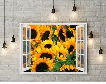 Sunflowers Print, Sunflowers Wall Art, Sunflowers Poster, Sunflowers Home  Decor, Printable Sunflowers