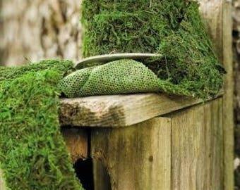 Dried Moss Ribbon - Natural Moss Roll | Dried Moss | Ribbon | Crafts | Decorative Moss |