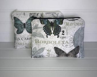 Handmade Zipper Pouch | Butterfly Garden