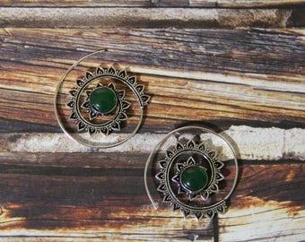 Spiral Silver Earrings