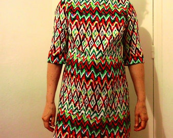 Hand made dress / year 70 size 38 / 40