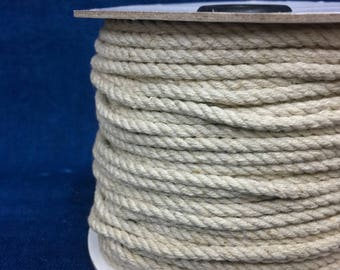 14x3 4mm String / linen coloured cotton twine / Soft Cotton and Jute mixed string / 14x3 / 40 yard roll / brown string