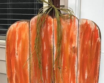 Large Rustic Pumpkin, Wooden Pumpkin, Fall, Halloween, Thanksgiving, Autumn